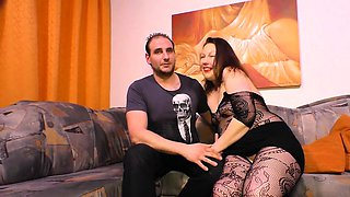 SEXTAPE GERMANY - Chubby German newbie gets drilled up close