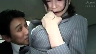 Tall Oriental secretary getting pounded hard in the office