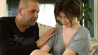 Cute short haired virgin Marfa Piroshka is shy on casting