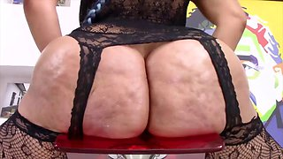 big booty latina rides dildo
