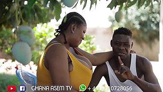 african BBW macromastia with boyfriend
