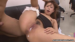 Japanese secretary Yuno Shirasuna is fucked by several co-workers